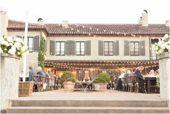 courtyard wedding reception at Hotel Domestique