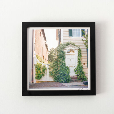 Charleston-South-Carolina-Photography-Prints-Jasmine-At-Sunset-Black-Frame