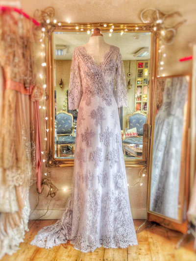 Langtry_wisteria_lavender_lace_silk_wedding_dress_JoanneFlemingDesign