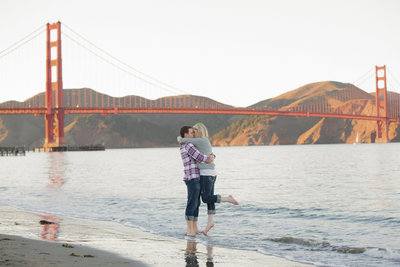 San Francisco Beach Engagement Photoshoot DeNeffe Studios