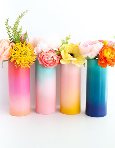DIY Gradient Flower Vases