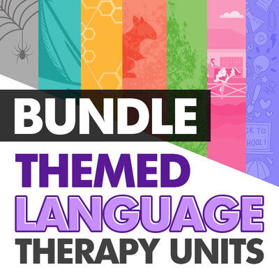 Bundle: Themed Language Therapy Unit Bundle for speech therapy