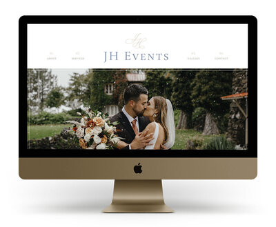 Custom Showit Website Design Mock Up for JH Events, a Coeur d'Alene wedding planner