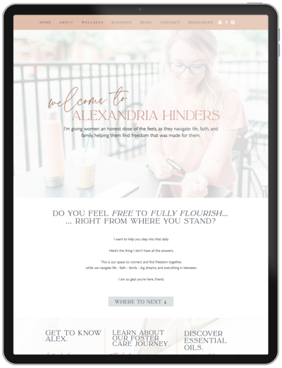 Alexandria-Hinders-Wellness-Showit-Template