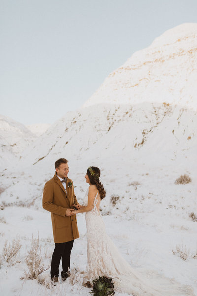 winter elopement, destination photography