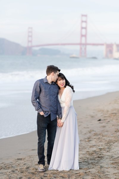 San Francisco Wedding Photographer Bay Area Wedding Photographer Engagement Session Baker Beach Engagement Session_0034