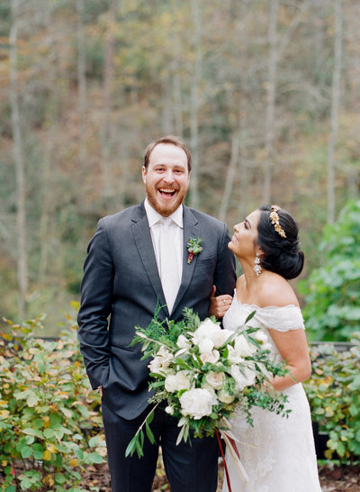 Ivy Hall Fall Wedding in Roswell