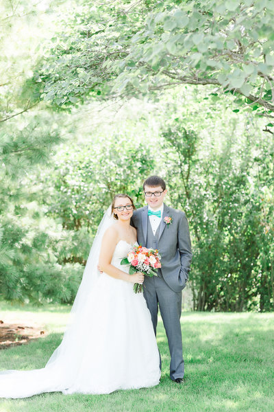 Bride and groom-Country Church Wedding-Decatur, Indiana-4024-p