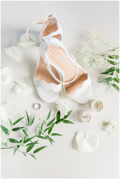 Wedding shoes and details for wedding in DC.
