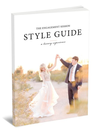 Engagement Session Style Guide | Resource for portrait and wedding photographers from Amy & Jordan