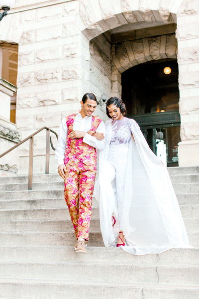 Xaneya and Blake styled shoot at Main Street Station