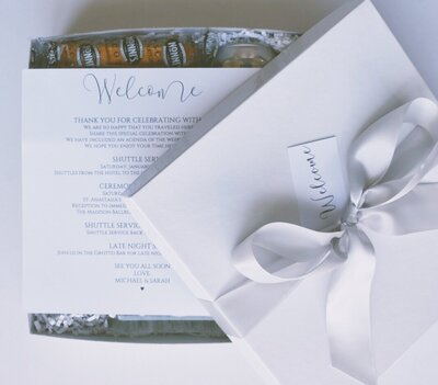 The Delivery Phase of Wedding Welcome Gifting  is the final step of the process! Here we coordinate with your hotels and drop off your gifts so you don't have to!