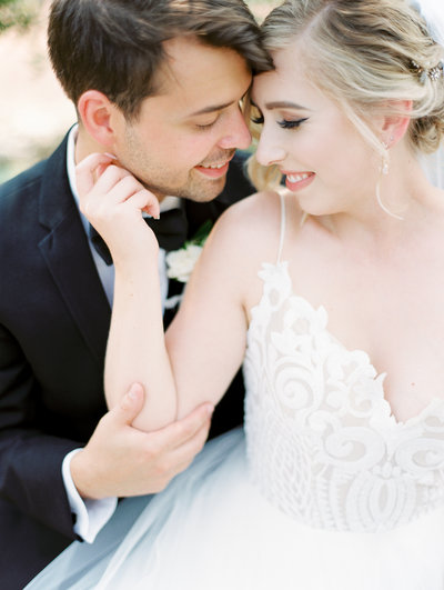 romantic bride and groom  portrait by portland wedding photographers sweetlife photography