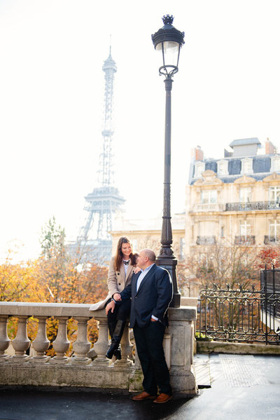 Justin hired Paris photographer Shantha  to  capture his engagement to Mia in Paris.