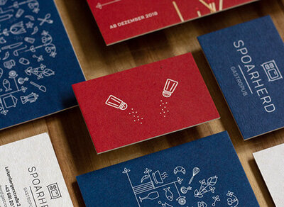 Business and stationary design as part of the brand system for restaurant