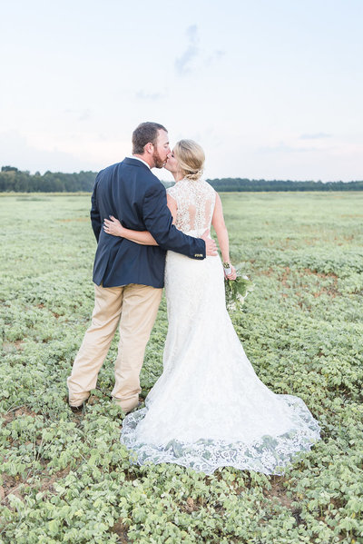 bride and groom - rustic farm wedding