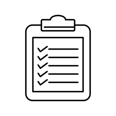graphic of clipboard to-do list