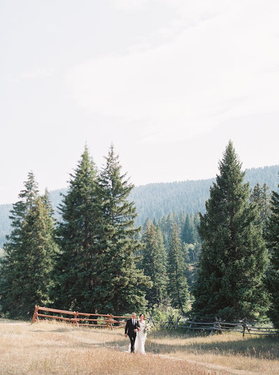Montana Wedding Ceremony at 320 Ranch in Big Sky