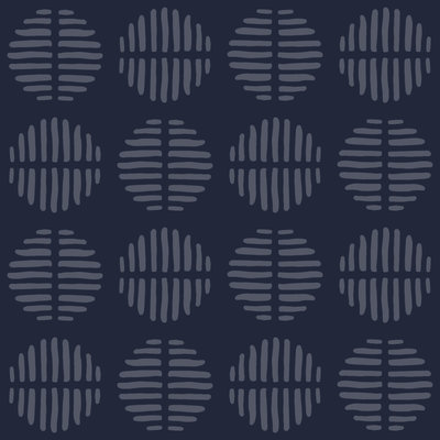 Dark Blue Tribal Print Pattern for Nyorh Agwe re-brand