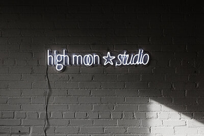 High Moon Studio neon light