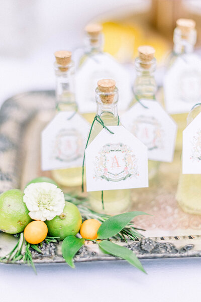 wedding-crest-limoncello-bottles-The-Welcoming-District