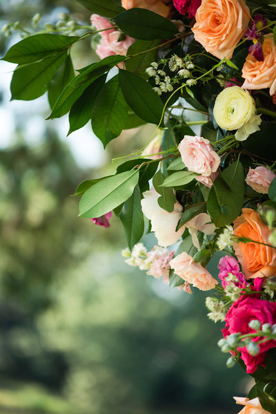 memphis estate wedding flower detail