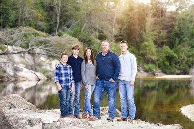 Beautiful Mississippi Family Photography: Fall Family portrait at Red Creek, Creek Session, Mississippi photographer