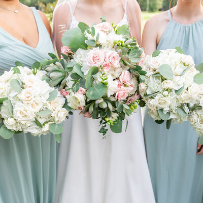 Rustic Floral Bridesmaid Bouquets