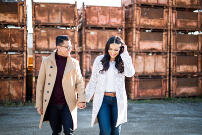 Fashion Engagement Photo In Toronto