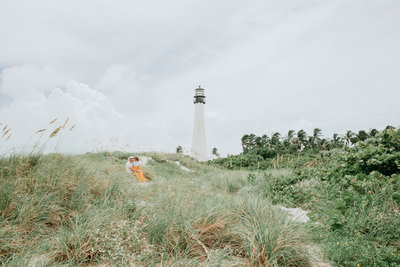 Key Biscayne Bill Baggs Cape Lighthouse Engagement Photographer