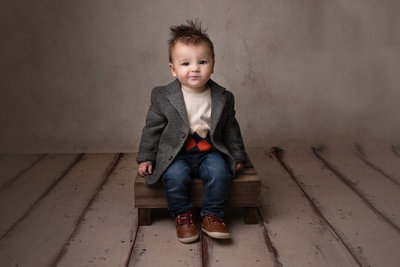 baby boy portrait - columbus ohio photography studio