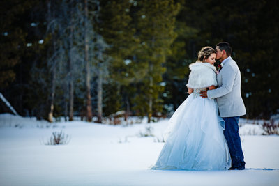Bride and Groom portraits for Elopement in Rocky Mountain National Park