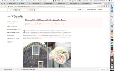 Jubilee Events -- CT Wedding Planner featured in Martha Stewart Weddings