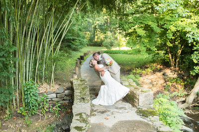 Jessica & Brian having a moment during their wedding.
