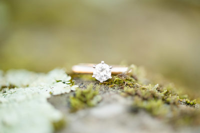 engagement ring from outdoor engagement session i