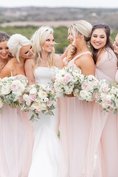 dove ridge vineyard wedding bridesmaids