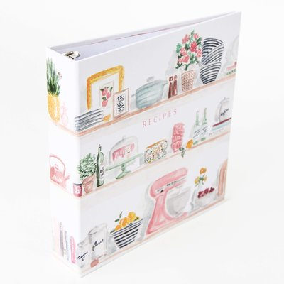 kitchen shelves recipe binder front and spine the illustrated life.jpg