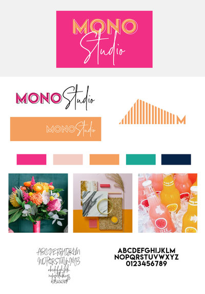 Mono Studio Brand Board Pink copy