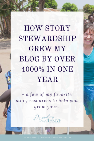how story stewardship grew my blog over 4000% in one year