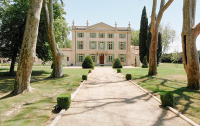 The front Chateau de Tourreau, wedding venue in the South of France