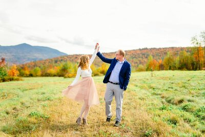 Sam and Mike dancing in New England Area Field