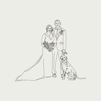 Illustration Shop - Wedding Portrait