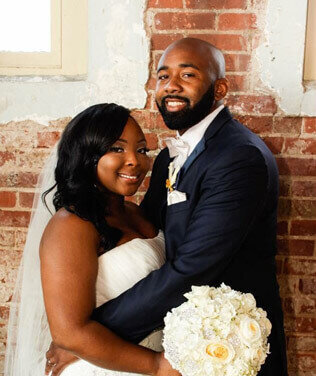 Wedding Couple at the Sundance Gallery in Greenwood SC