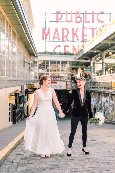 Seattle Wedding at Pike Place Market