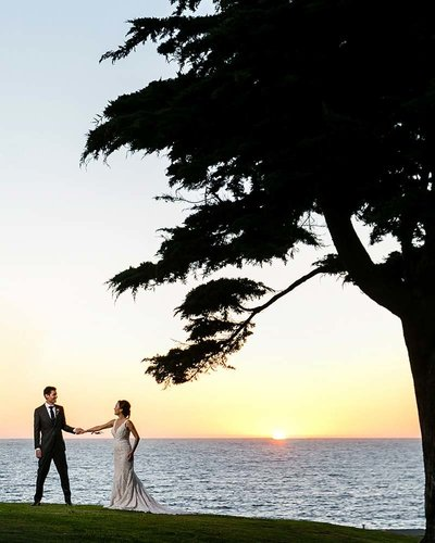 sunset couple portrait pacific ocean redondo beach historic library