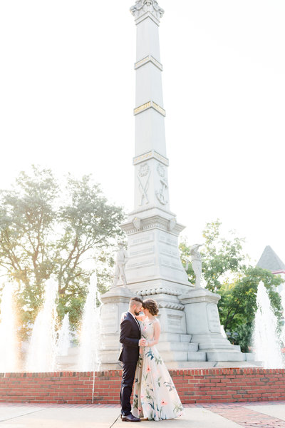 Downtown Easton Engagement Portrait Photo