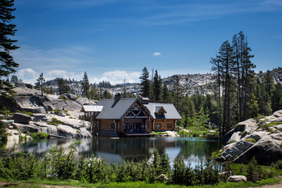 Lake Tahoe outdoor wedding in Lupin fields