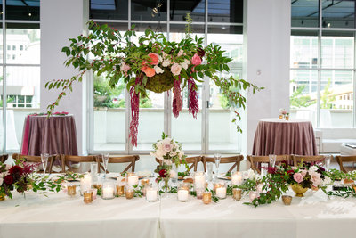 hanging basket, head table decor