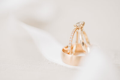 Virginia Wedding Photographer, detail shot of bride and groom's rings
