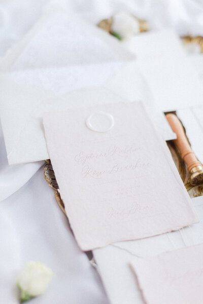 wedding invitations, vows and stationary